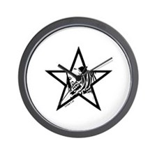 Pin Up Star Wall Clock