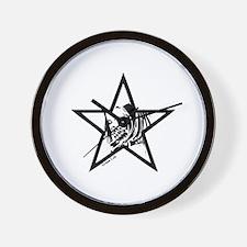 Pin Up Star Wall Clock