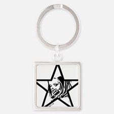 Pin Up Star Square Keychain
