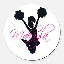Cute Makayla Round Car Magnet