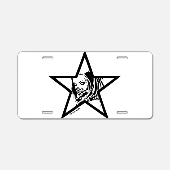 Pin Up Star Aluminum License Plate