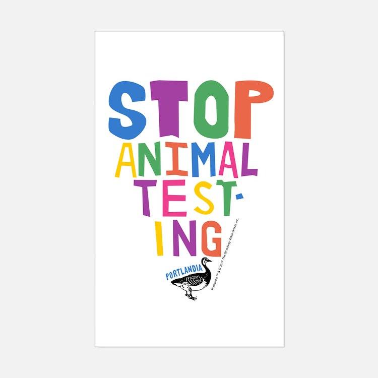 Portlandia Animal Testing Decal