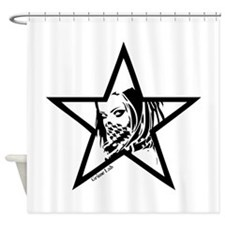 Pin Up Star Shower Curtain