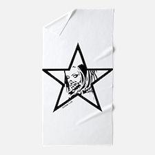 Pin Up Star Beach Towel