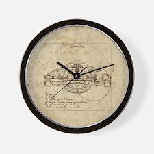Vitruvian Voyager Wall Clock