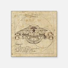 "Vitruvian Voyager Square Sticker 3"" x 3"""