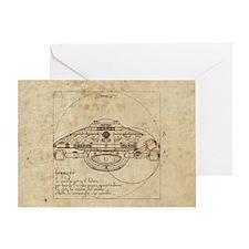 Vitruvian Voyager Greeting Card