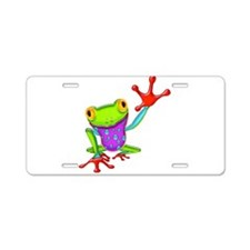 Waving Poison Dart Frog Aluminum License Plate