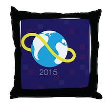 Global Game Jam Button Throw Pillow