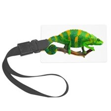 Green and Gold Chameleon on a St Luggage Tag