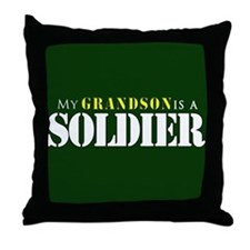 Grandson is a Soldier Throw Pillow