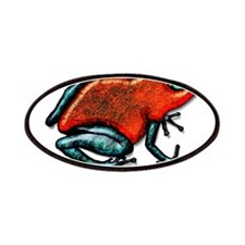 Shiny Red and Green Poison Dart Frog Patches