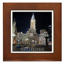 Philadelphia - City Hall. Framed Tile