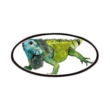Gorgeous Green Iguana Patches