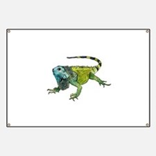 Gorgeous Green Iguana Banner