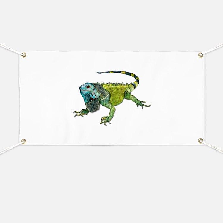 Gorgeous Green Iguana Banner