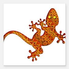 "Gordon Gekko Aztec Lizar Square Car Magnet 3"" x 3"""
