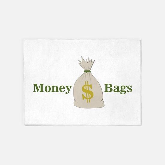 Money Bags 5'x7'Area Rug