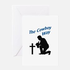 THE COWBOY WAY Greeting Cards
