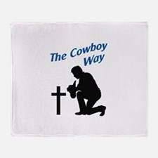 THE COWBOY WAY Throw Blanket