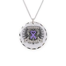 General Cancer Victory Necklace Circle Charm