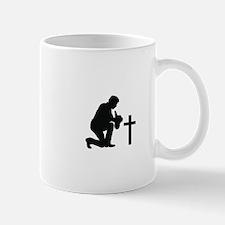 COWBOY KNEELING AT CROSS Mugs