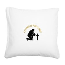 COWBOYS FOR CHRIST Square Canvas Pillow