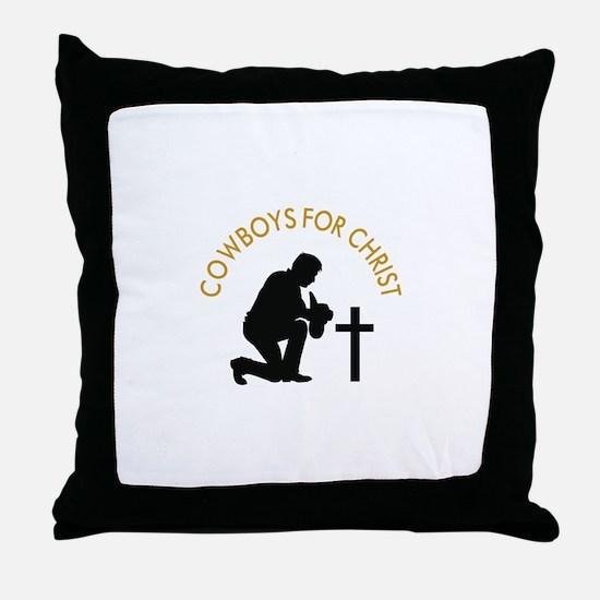 COWBOYS FOR CHRIST Throw Pillow
