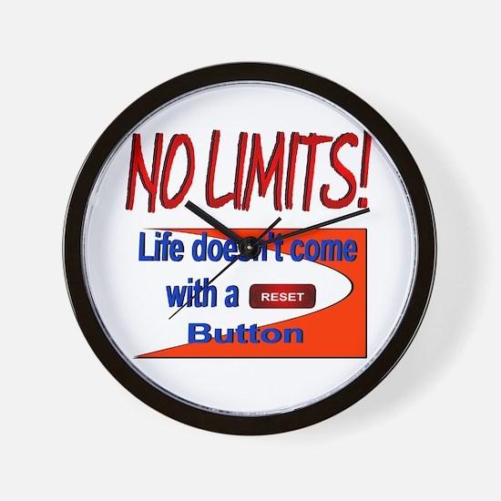 No Limits Reset Button Wall Clock