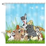 Dog Groomer Cute Dogs Shower Curtain
