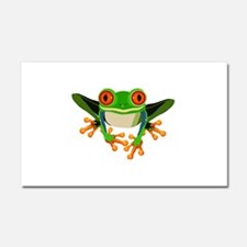 Colorful Tree Frog with Orange Car Magnet 20 x 12