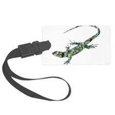 Mosaic Polygon Green Lizard Luggage Tag