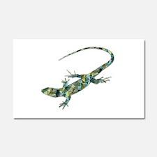 Mosaic Polygon Green Lizard Car Magnet 20 x 12