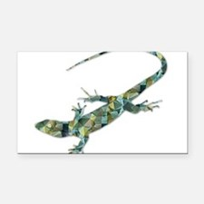 Mosaic Polygon Green Lizard Rectangle Car Magnet