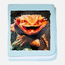 Grotesque Bearded Dragon Lizard baby blanket
