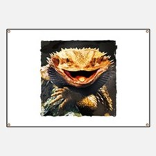 Grotesque Bearded Dragon Lizard Banner
