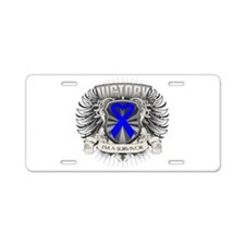 Colon Cancer Victory Aluminum License Plate