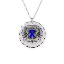 Colon Cancer Victory Necklace Circle Charm
