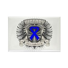 Colon Cancer Victory Rectangle Magnet
