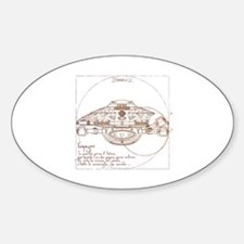 Vitruvian Voyager Oval Decal