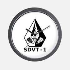 A SDVT-1 (BW) Wall Clock