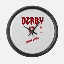 derby it Large Wall Clock