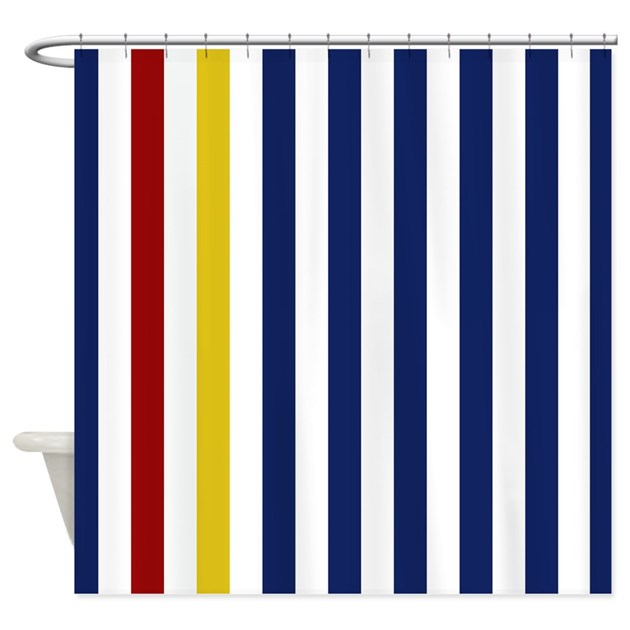 Nautical Classic Stripes Shower Curtain By Stripstrapstriped