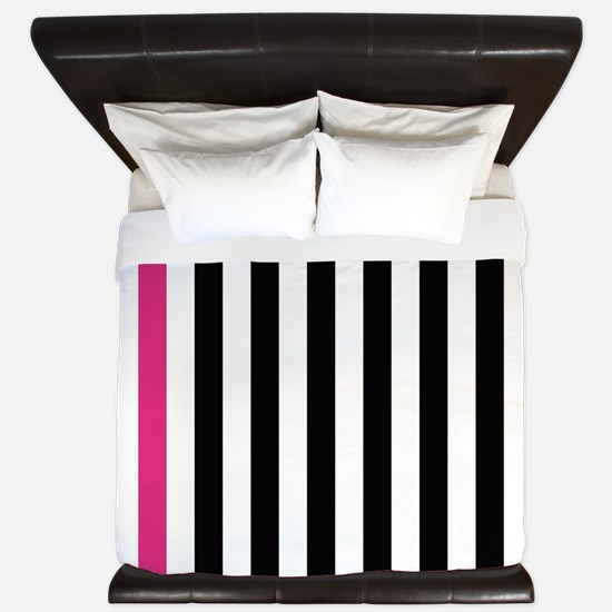With A Pink Stripe King Duvet