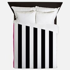 With A Pink Stripe Queen Duvet