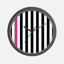 With A Pink Stripe Wall Clock