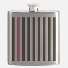 With A Pink Stripe Flask