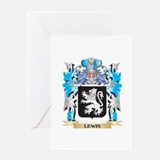 Lewis Coat of Arms - Family Crest Greeting Cards