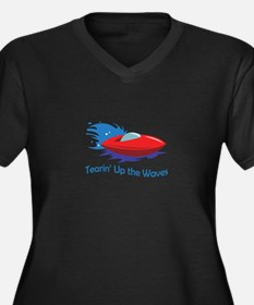 TEARIN UP THE WAVES Plus Size T-Shirt