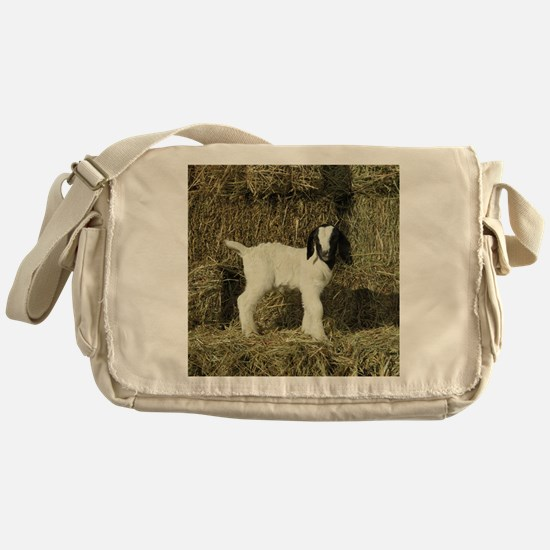 Kid Playing In The Hay Messenger Bag